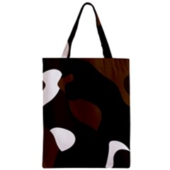 Black Brown And White Abstract 3 Zipper Classic Tote Bag