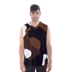 Black Brown And White Abstract 3 Men s Basketball Tank Top