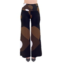 Black Brown And White Abstract 3 Pants