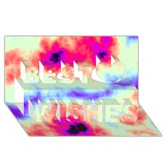 Calm Of The Storm Best Wish 3D Greeting Card (8x4)
