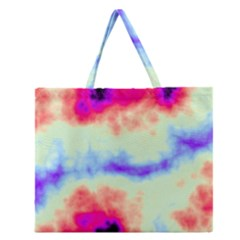Calm Of The Storm Zipper Large Tote Bag