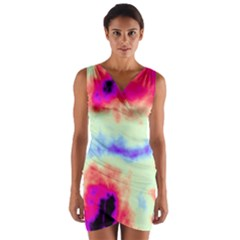 Calm Of The Storm Wrap Front Bodycon Dress