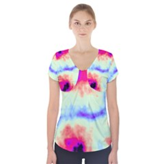 Calm Of The Storm Short Sleeve Front Detail Top
