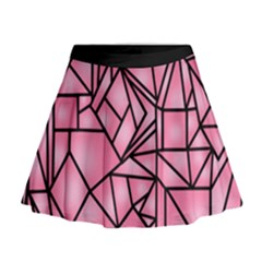 Ribbet collage Mini Flare Skirt