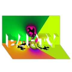 Creation Of Color PARTY 3D Greeting Card (8x4)
