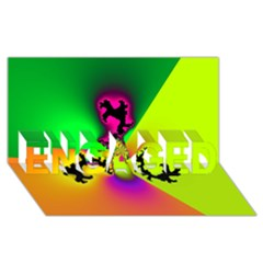 Creation Of Color Engaged 3d Greeting Card (8x4)