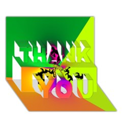 Creation Of Color THANK YOU 3D Greeting Card (7x5)