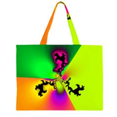 Creation Of Color Zipper Large Tote Bag