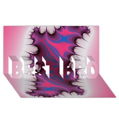 Liquid Roses Best Bro 3d Greeting Card (8x4)