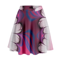Liquid Roses High Waist Skirt