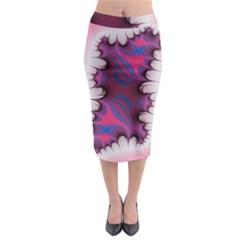 Liquid Roses Midi Pencil Skirt
