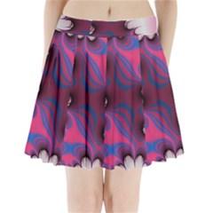 Liquid Roses Pleated Mini Mesh Skirt