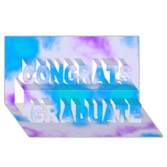 Blue And Purple Clouds Congrats Graduate 3D Greeting Card (8x4)