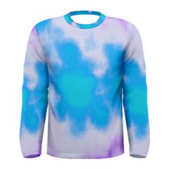 Blue And Purple Clouds Men s Long Sleeve Tee