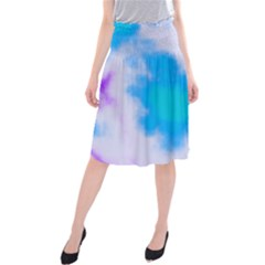Blue And Purple Clouds Midi Beach Skirt