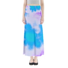 Blue And Purple Clouds Maxi Skirts