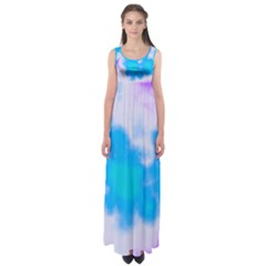 Blue And Purple Clouds Empire Waist Maxi Dress