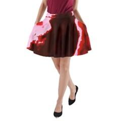 Crimson Sky A Line Pocket Skirt
