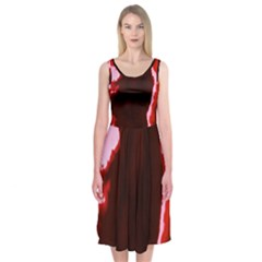 crimson sky Midi Sleeveless Dress