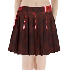 crimson sky Pleated Mini Mesh Skirt