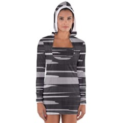 Gray Camouflage Women s Long Sleeve Hooded T Shirt