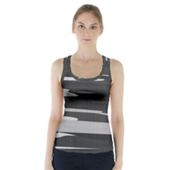 Gray Camouflage Racer Back Sports Top
