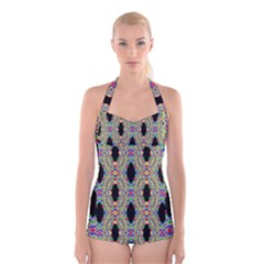 Shape Boyleg Halter Swimsuit