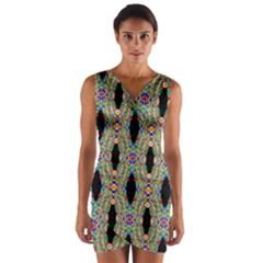 Shape Wrap Front Bodycon Dress
