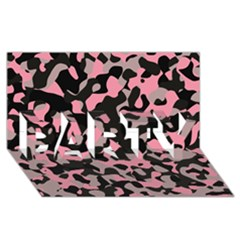 Kitty Camo PARTY 3D Greeting Card (8x4)