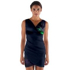 tie dye Wrap Front Bodycon Dress