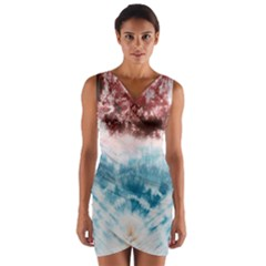 tie-dye2 Wrap Front Bodycon Dress