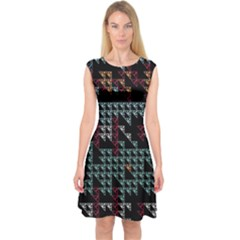 Triangles             Capsleeve Midi Dress