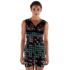 Triangles                Wrap Front Bodycon Dress