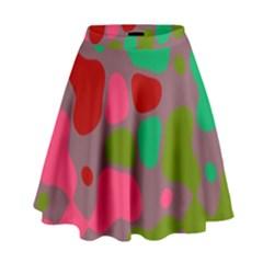 Spots                                                                                  High Waist Skirt