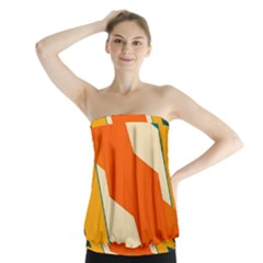 Shapes in retro colors                   Strapless Top