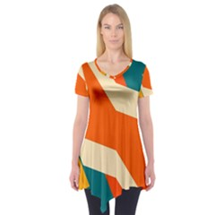 Shapes in retro colors           Short Sleeve Tunic