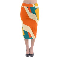 Shapes in retro colors                                                                                    Midi Pencil Skirt