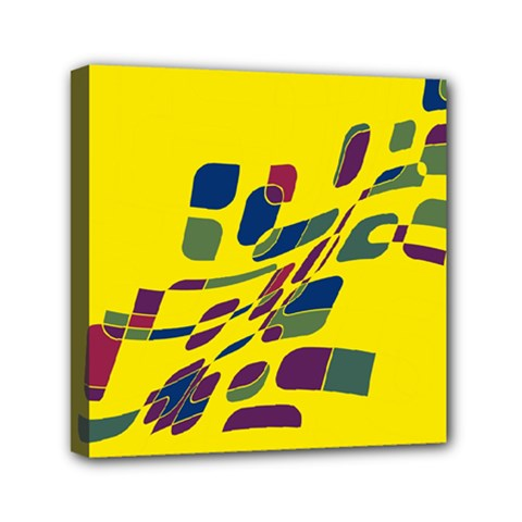 Yellow abstraction Mini Canvas 6  x 6