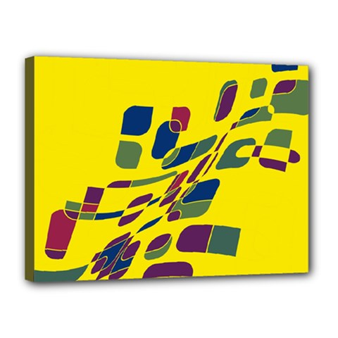 Yellow abstraction Canvas 16  x 12