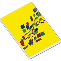 Yellow abstraction Large Memo Pads