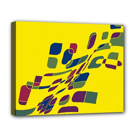 Yellow abstraction Deluxe Canvas 20  x 16
