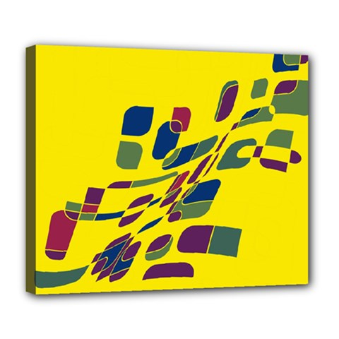Yellow abstraction Deluxe Canvas 24  x 20