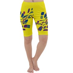 Yellow abstraction Cropped Leggings