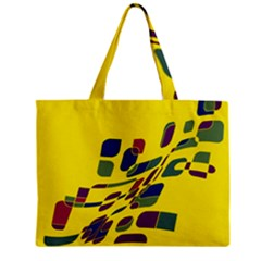 Yellow abstraction Zipper Mini Tote Bag