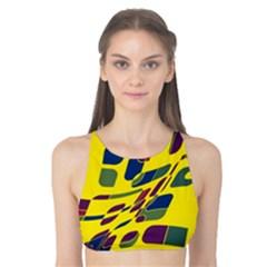 Yellow abstraction Tank Bikini Top