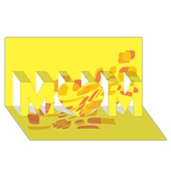 Yellow abstraction MOM 3D Greeting Card (8x4)