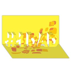 Yellow abstraction #1 DAD 3D Greeting Card (8x4)