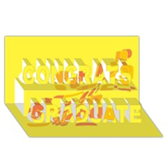 Yellow abstraction Congrats Graduate 3D Greeting Card (8x4)