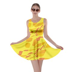 Yellow abstraction Skater Dress