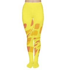 Yellow abstraction Women s Tights